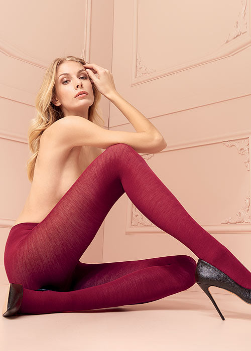 Trasparenze Jennifer Collant - Black merino wool knitted tights, perfect thermal hosiery for cold Winters