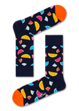 Happy Socks WAT01-6500 Watermelon Sock - navy cotton ankle socks with multicoloured watermelon slices