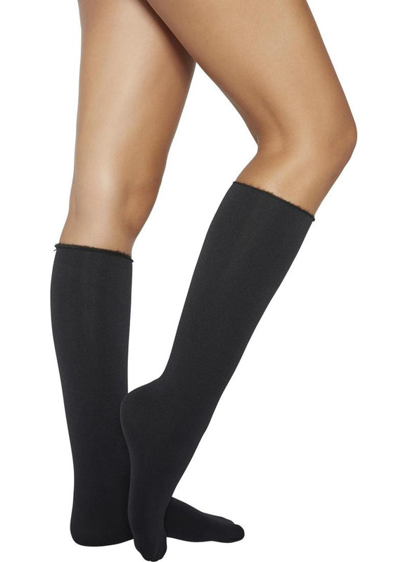 Ysabel Mora 15842 Polar Knee-Highs - Cosy and warm black thermal knee-high socks with a fluffy and soft fleece lining and no cuff roll top. Perfect for the cold Winter weather.