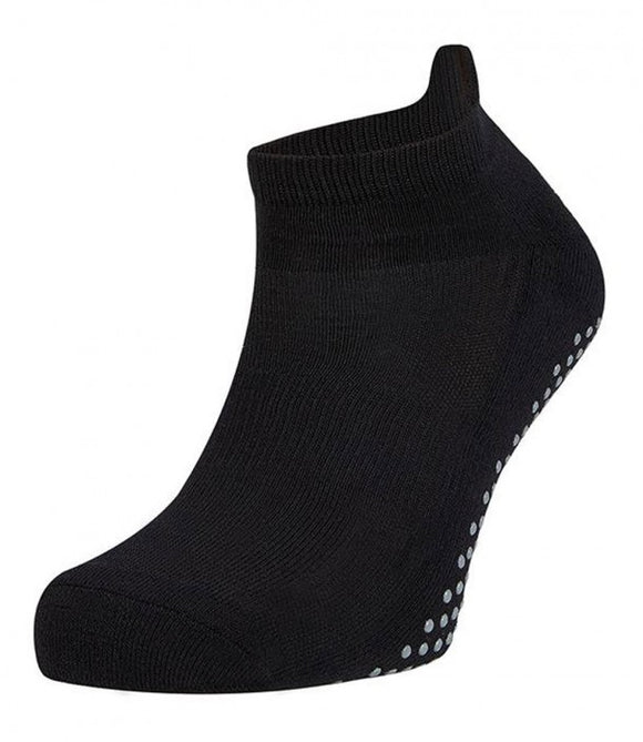 Ysabel Mora - 17392 Yoga Sock - cotton low ankle grip socks in black and grey, available in men and women's sizes