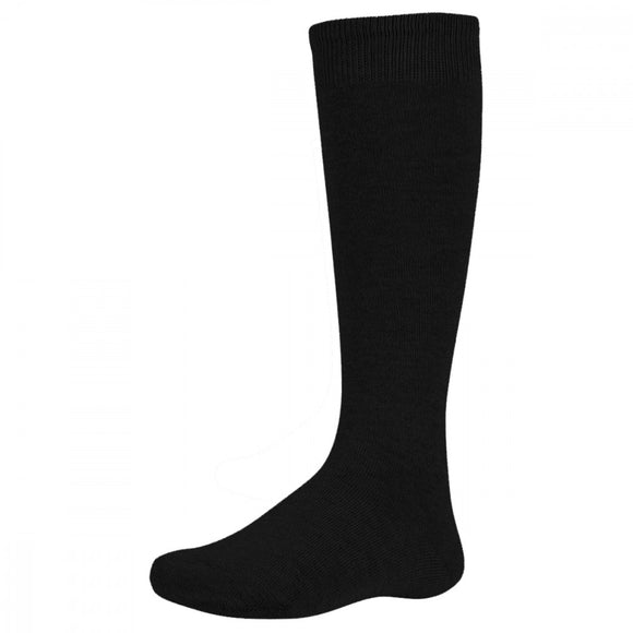 Ysabel Mora - 02815 black knee-high cotton socks, perfect for older school kids
