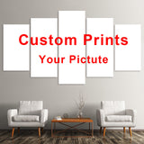 Custom Prints 5 Pieces Wall Art  Custom Poster Customs You Photo on Canvas Decoration Pictures for Living Room No Frame Painting