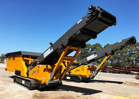 Feed Loader Conveyors - Anaconda FTR100 Mobile Feed Loading Machine - Tricon Equipment Australia