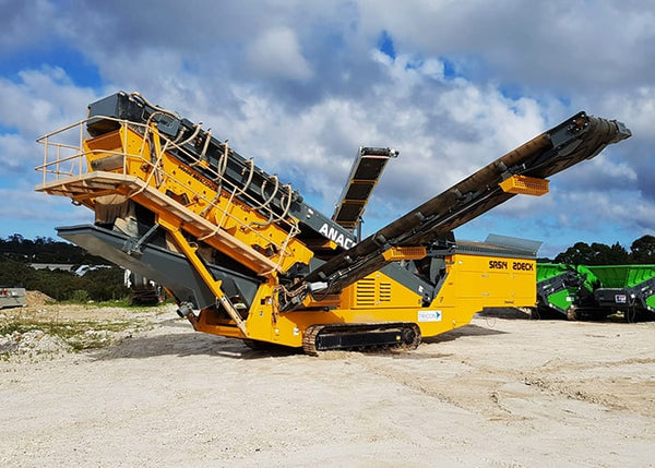 2 Deck Screener - Anaconda SR514 Mobile Scalping Screener Machine - Tricon Equipment Australia
