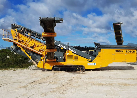 2 Deck Screen - Anaconda SR514 Mobile Scalping Screener Machine - Tricon Equipment Australia