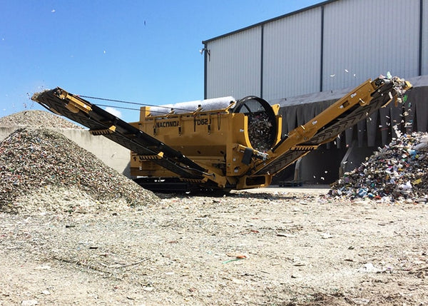 Trommel Screen Waste Recycling - Anaconda TD620 Tracked Trommel Screening Machine - Tricon Equipment Australia