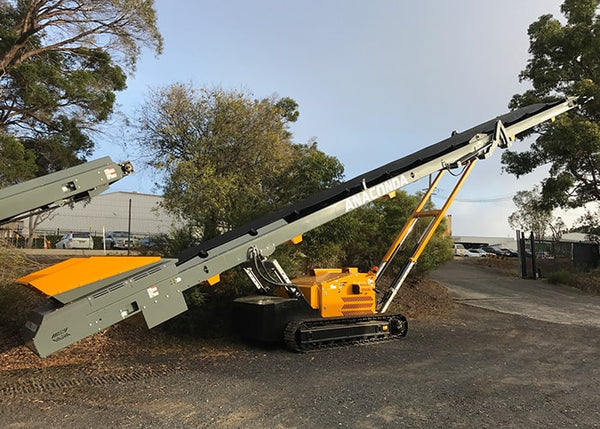 Stockpile Conveyors - Anaconda ST6036 Wheeled Materials Handling Stockpile Conveyor - Tricon Equipment Australia