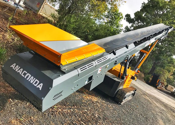 Bulk Material Conveyor - Anaconda ST6036 Wheeled Materials Handling Stockpile Conveyor - Tricon Equipment Australia