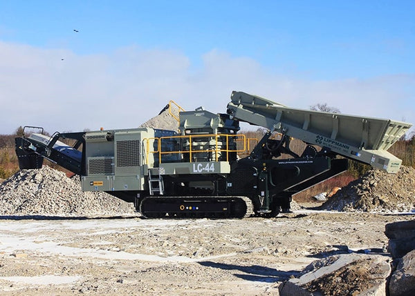 Cone Crushing Machine - LC-44 Lippmann Mobile Cone Crusher - Tricon Equipment