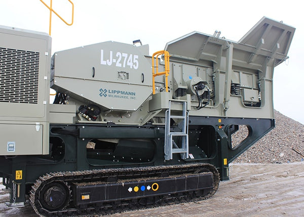 Hopper - Lippmann LJ-2745 Jaw Crushing Machine - Tricon Equipment Australia