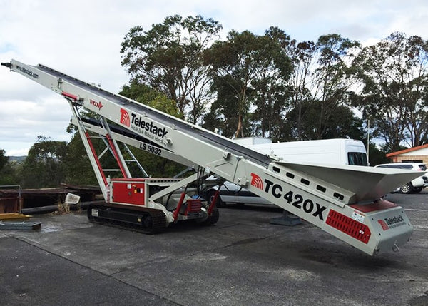 Stockpile Conveyor - Telestack TC-420X Mobile Stacker Stockpile Conveyor - Tricon Equipment