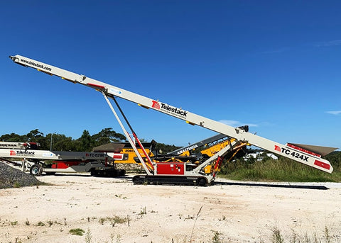 Mobile Stockpile Conveyor - Telestack TC-424X Mobile Stacker Stockpile Conveyor - Tricon Equipment