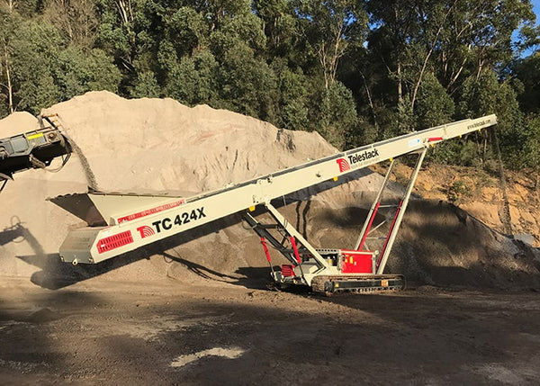 Stockpile Conveyor - Telestack TC-424X Mobile Stacker Stockpile Conveyor - Tricon Equipment