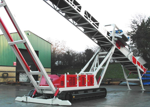 Tracked Mobile Conveyor - Telestack TC-431 Mobile Stacker Stockpile Conveyor - Tricon Equipment