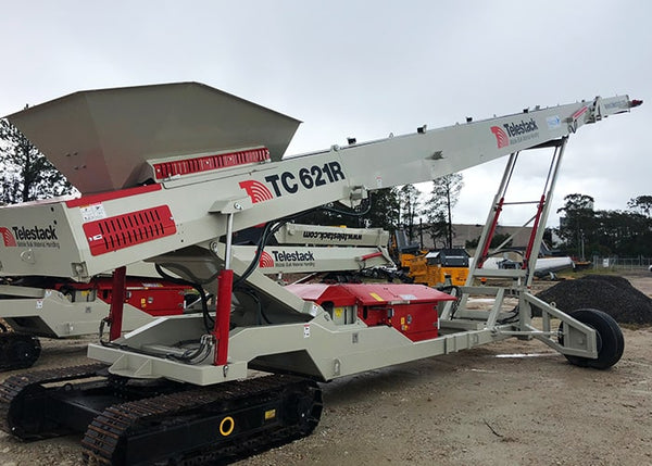 Tracked Conveyor - Telestack TC-621R Mobile Stacker Radial Stockpile Conveyor - Tricon Equipment