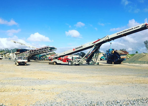 Mobile Track Conveyor - Telestack TC-621R Mobile Stacker Radial Stockpile Conveyor - Tricon Equipment