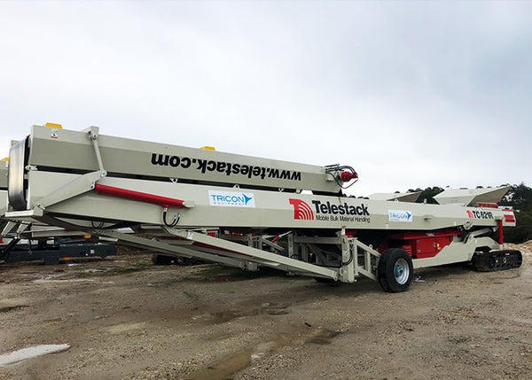 Stockpile Conveyor - Telestack TC-621R Mobile Stacker Radial Stockpile Conveyor - Tricon Equipment