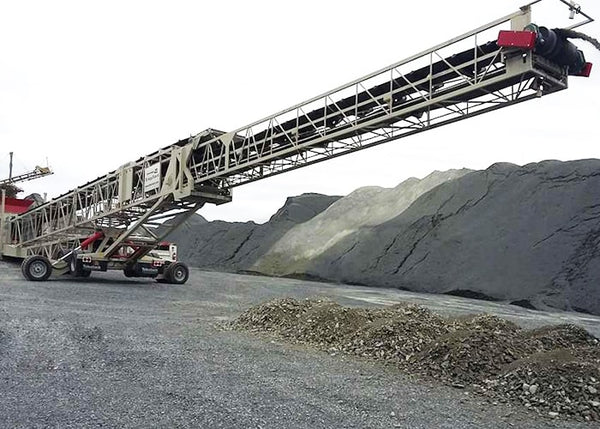 Stockpile Stacker Conveyor - Telestack TS-36-140 AGGSTACK Mobile Telescopic Radial Stockpile Conveyor - Tricon Equipment