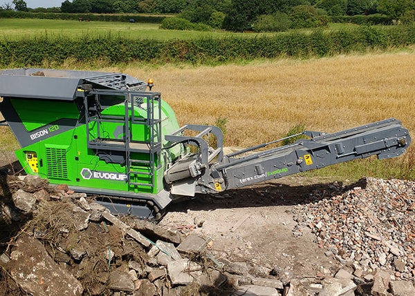 Rock Crushing and Stacking - Terex EvoQuip Bison 120 Crushing Machine - Tricon Equipment Australia