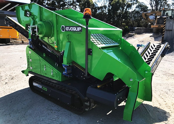 Two Deck Reclaimer Screen - Terex EvoQuip Harrier 220 Two Deck Scalping and Screening Machine - Tricon Equipment Australia