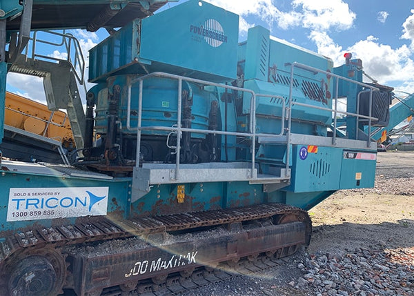 Mobile Rock Crusher - Terex Pegson Maxtrak 1000 Cone Crushing Machine - Tricon Mining Equipment