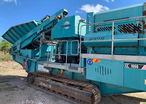 Mobile Cone Crusher - Terex Pegson Maxtrak 1000 Cone Crushing Machine - Tricon Mining Equipment
