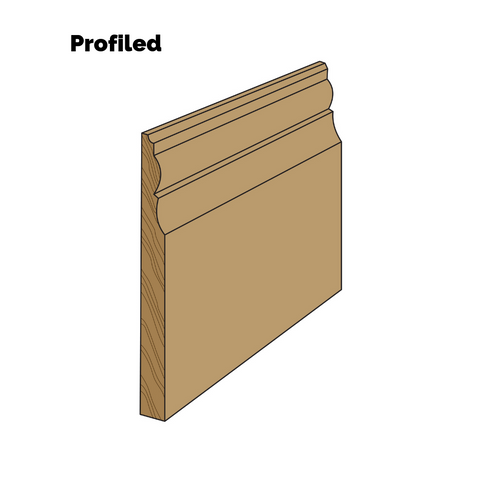 One of four different baseboard looks - single-piece profiled trim.