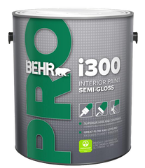 Behr Trim Paint - PRO i300, one gallon, water-based