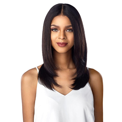 10A STRAIGHT  | Sensationnel Unprocessed Virgin Human Hair Lace Wig - Hair to Beauty | Color Shown : NATURAL