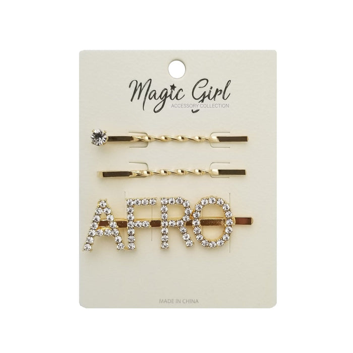 AFRO 1  | Rhinestone Hair Pin 3PCS.