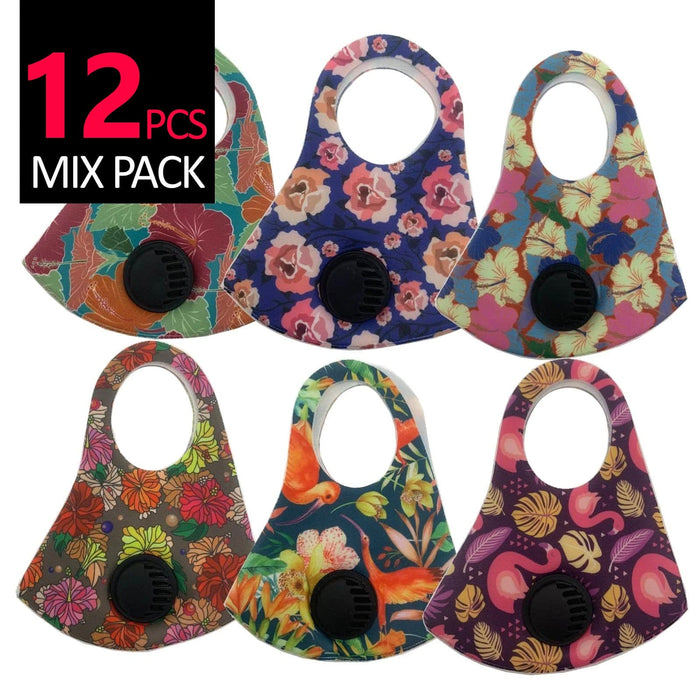 Be U | Fashion Mask Nature with Respirator - 12 Pcs Mix Pack.