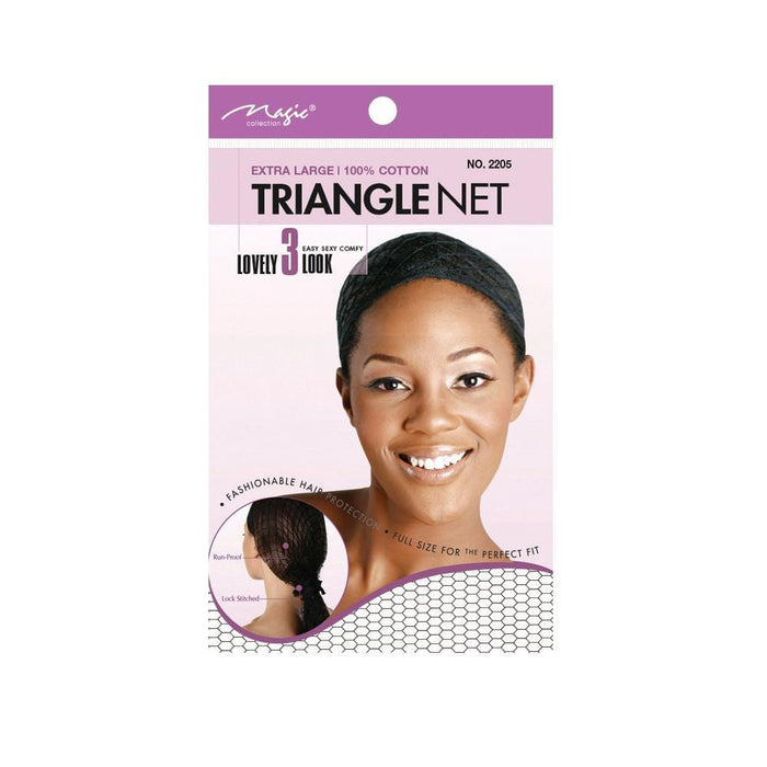 MAGIC | Triangle Net Cotton X-Large Black- Hair to beauty