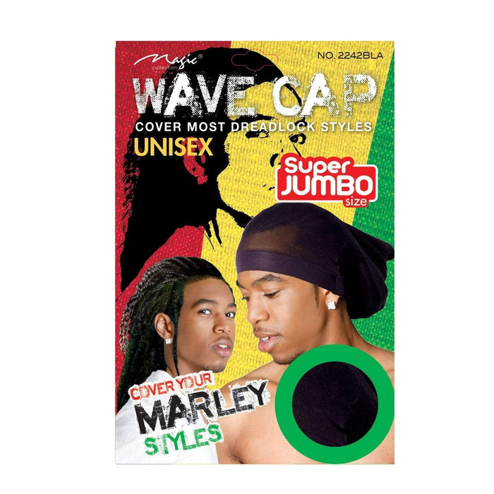 MAGIC | Marley Style Stocking Wave Cap Black - Hair to beauty
