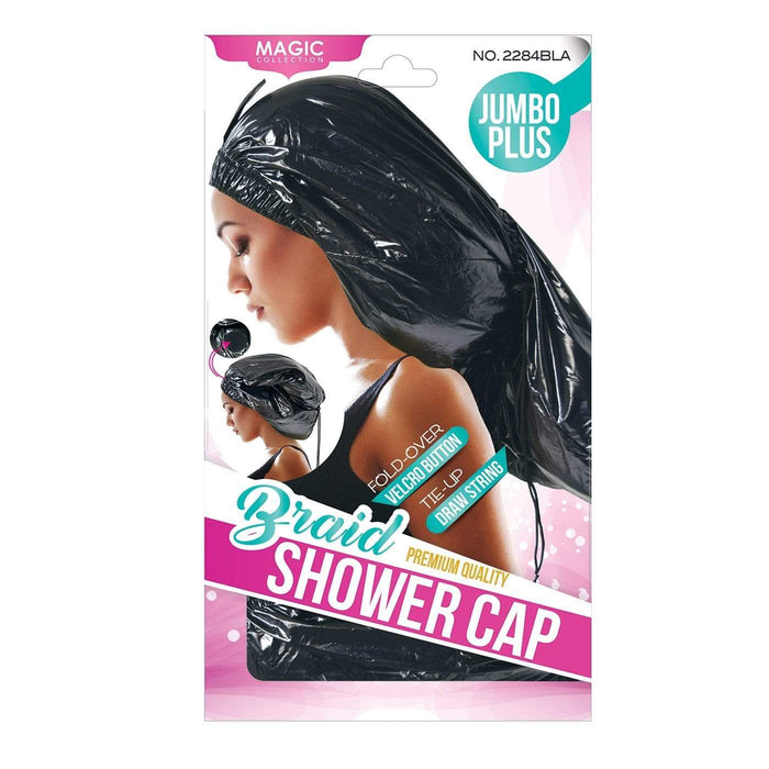MAGIC | Shower Cap Braid Jumbo Black X-Large.