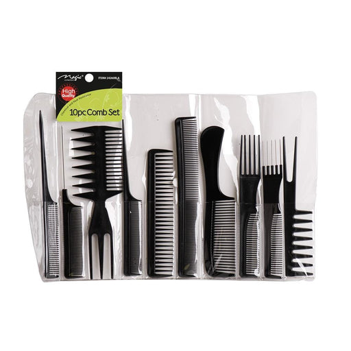 MAGIC | Comb-Comb 10Pc Black - Hair to beauty