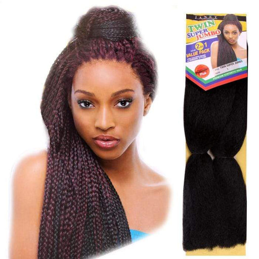 2X TWIN SUPER JUMBO BRAID (PP) | Janet Collection Premium Synthetic Braid - Hair to Beauty | Color Shown: