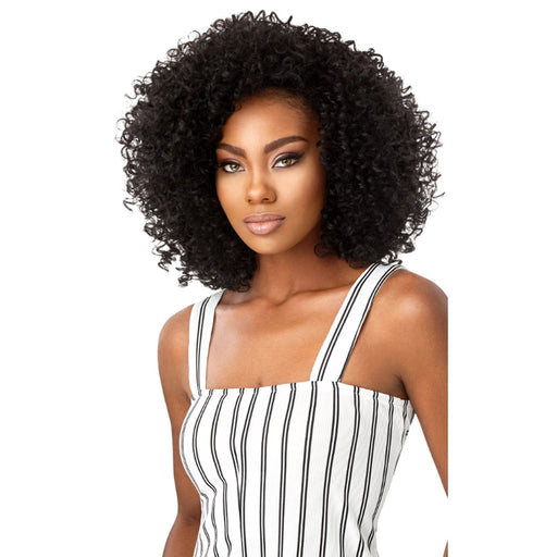 3A PASSION CURL | Outre Big Beautiful Hair Synthetic Half Wig - Hair to Beauty | Color Shown: 1B