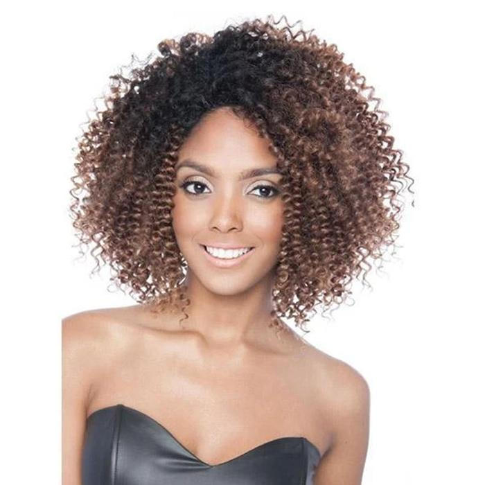 3C RINGLET | Black Ivy Synthetic Lace Front Wig - Hair to Beauty | Color Shown :