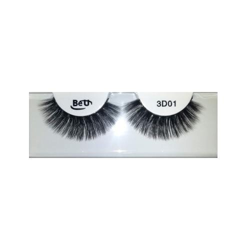 BE U | 3D Faux Mink Eyelashes 3D01 - Hair to beauty