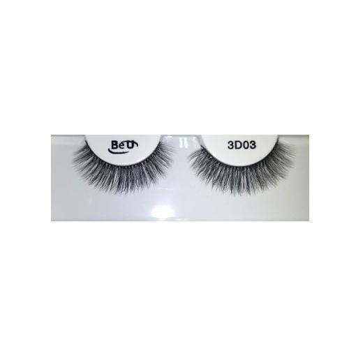 BE U | 3D Faux Mink Eyelashes 3D03 - Hair to beauty