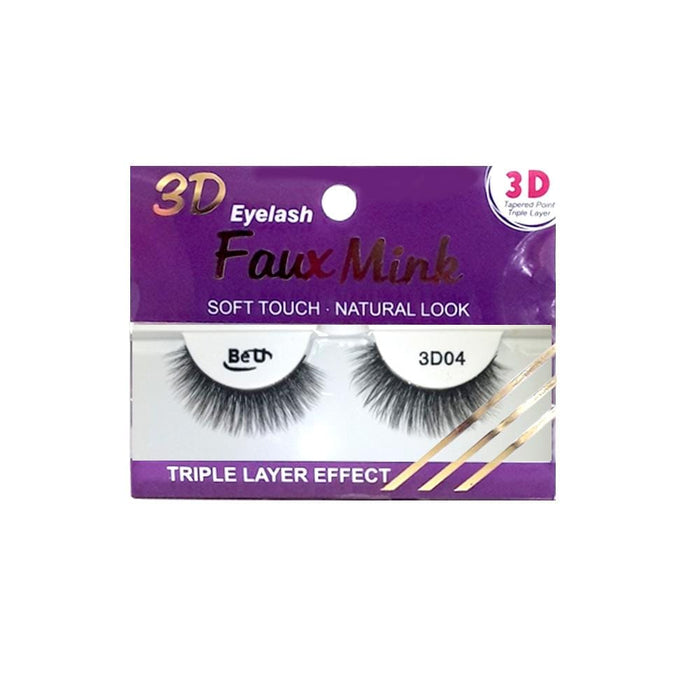 BE U | 3D Faux Mink Eyelashes 3D04 - Hair to beauty