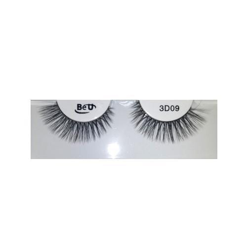 BE U | 3D Faux Mink Eyelashes 3D09 - Hair to beauty