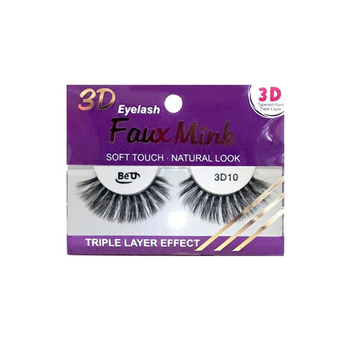 BE U | 3D Faux Mink Eyelashes 3D10 - Hair to beauty