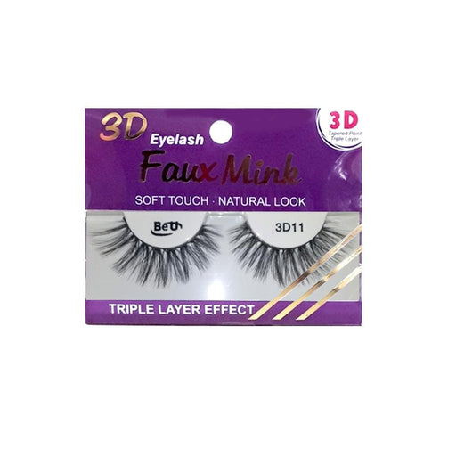 BE U | 3D Faux Mink Eyelashes 3D11 - Hair to beauty