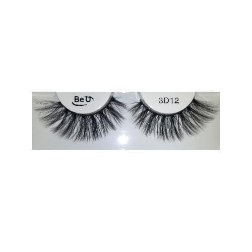 BE U | 3D Faux Mink Eyelashes 3D12 - Hair to beauty