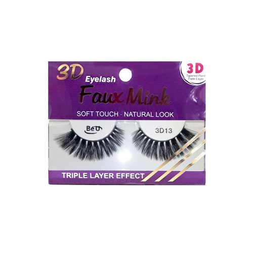 BE U | 3D Faux Mink Eyelashes 3D13 - Hair to beauty