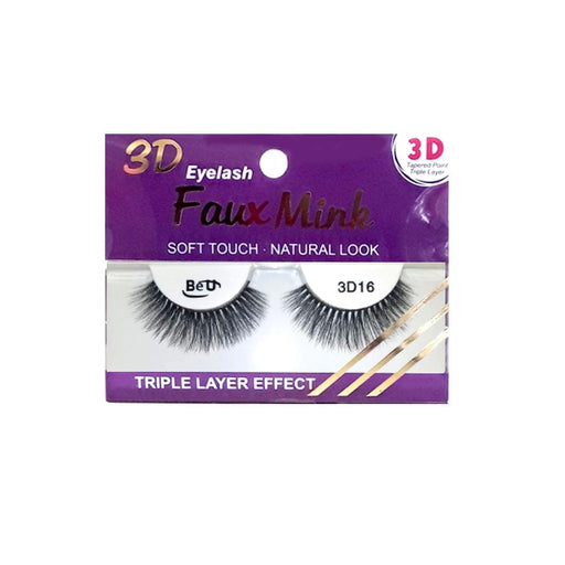 BE U | 3D Faux Mink Eyelashes 3D16 - Hair to beauty