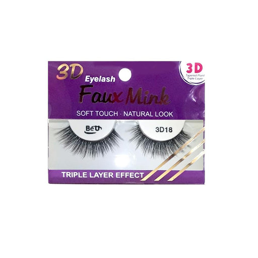 BE U | 3D Faux Mink Eyelashes 3D18 - Hair to beauty
