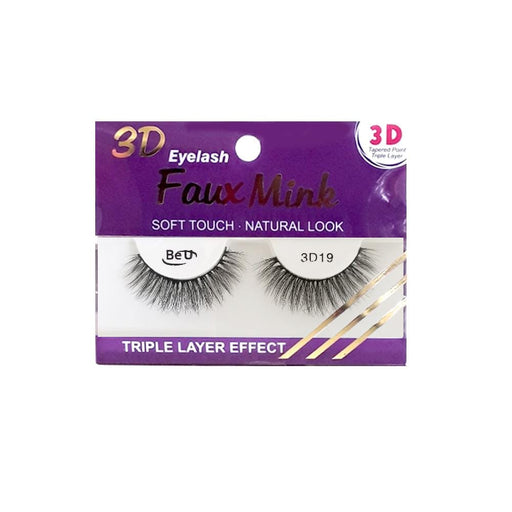 BE U | 3D Faux Mink Eyelashes 3D19 - Hair to beauty
