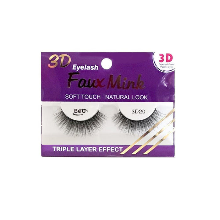 BE U | 3D Faux Mink Eyelashes 3D20 - Hair to beauty